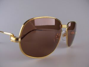 Vintage 1986 Cartier Romance Sunglasses Size 58-18 Medium Made in France