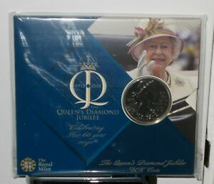 Royal Mint Official Queens Diamond Jubilee 2012 £5 coin - New & Sealed