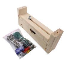Knitting Tool Woven Wooden Frame Paracord Jig Screws Natural Bracelet Making
