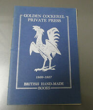 1956-57 GOLDEN COCKEREL PRIVATE PRESS British Hand-Made Books 24p 5x7.25 FVF
