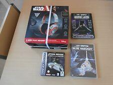 CASQUE STARWARS X WING PILOT+JEU STARWARS GAMEBOY ADVANCE +2 DVD STARWARS
