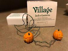 Depart 56 Snow Village Jack-o-Lanterns battery operated Halloween Pumpkins