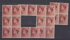 Gb Keviii 1936 1 1/2d Blocks x 3 Mnh J8676