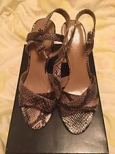 Ann Taylor Women Chunky Heel Cross Front Sandal Size: 7 New With Tag