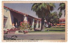 "Palm Springs CA ""Desert Inn South Entrance"" Willard Linen Postcard California"
