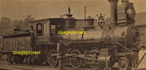 LEAVENWORTH, Tx - Kansas Central RR locomotive  No 102 in 1900