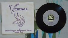 Official Song of the Minnesota Vikings Football Club 45 w PS 1982 VG+/M-