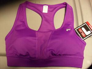 New Fila Sports Bra XS Key Hole Back Purple Padded Support NWT $30