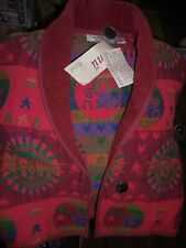 Women's Jacket With Sun and Moons on Red Size large by Anu by Natural New