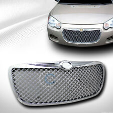 Fits 04-06 Chrysler Sebring Chrome Mesh Front Hood Bumper Grill Grille Guard ABS