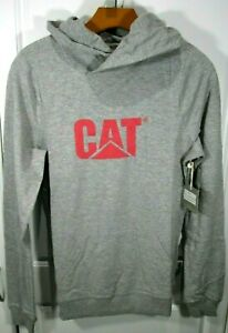 NEW ~ Caterpillar ~ DESIGN MARK HOODIE ~ Sweatshirt CAT ~ HEATHER GRAY ~ SMALL