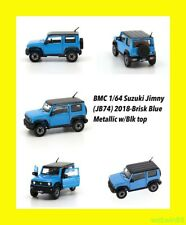 FEB 2020 SUZUKI JIMNY JB74 2018 Brisk Blue Metallic 4x4 JEEP 1/64 BM Creations