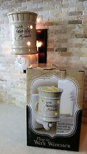 """NEW Plug-in Plug In Wax Warmer """"Faith, Family, Friends""""  NIB"""