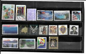 USA 2005-2012. SELECTION OF 17.  FINE USED . AS PER SCAN