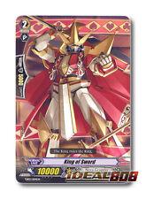 Cardfight Vanguard  x 4 King of Sword - TD03/004EN - TD (common ver.) Mint
