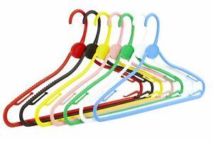 Pack of 10 All Plastic Multipurpose Hangers - 42cm