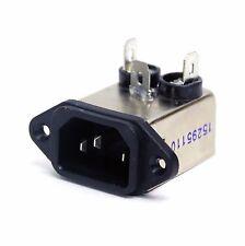 2pc EMI Filter IEC AC Inlet YA03T1 115V 250V 3A -25~+85℃ UL CSA VDE RoHS YUNPEN