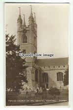 cu2080 - The Parish Church of St. Mary's & Cemetery, in Ashford, Kent - Postcard