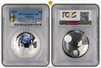 2019 $5 Apollo 11 50th Anniversary Australia/U.S. 2 Pc Set Ag, PR69DCAM (Proof)