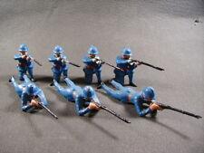 BF Soldats Français au combat WWI, plomb creux (antique toys)