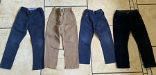 4 Pairs George Boys Cotton Trousers (Cords, Chino) Navy Beige 4-5 Years