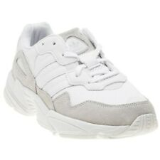 New Boys adidas White Yung-96 J Synthetic Trainers Lace Up