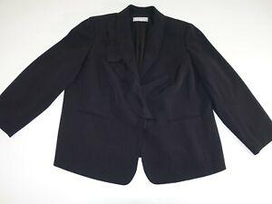 Tahari Arthur s. Levine Women's 3 Button Blazer Jacket Size 18W Black Suit Coat