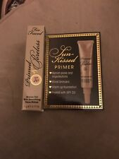 TWO FACED Primed & Poreless Smoothing Face Primer .17 oz SPF 20 Bronze Tint NEW