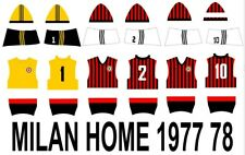 SUBBUTEO SET DECAL HW MILAN HOME  1977 1978