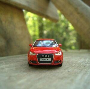 Audi A1 red model car 1/32