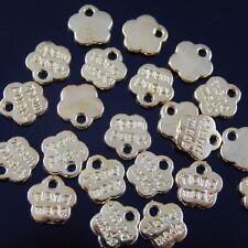 250PCS Gold Tone Vintage Alloy Lovely Hand Made Flower Petal Charm Pendant 36380