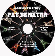 Pat Benatar Guitar TABS Lesson CD 22 Songs + Backing Tracks + Bonus