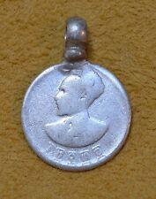 Antique Ethiopian Haile Selassie Silver Coin Conquering Lion Pendant, Ethiopia