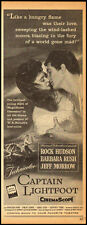 1950's Vintage ad for CAPTAIN LIGHTFOOT/Sexy Picture/Rock Hudson (011213)