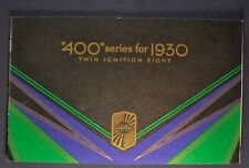 1930 Nash 400 Catalog Brochure Twin Ignition Eight 8 Excellent Original 30