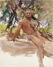 Sargent Singer John Man And Trees Florida Canvas 16 x 20  #4861