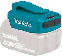 Makita 18-V Li-Ion USB Adapter Charger Belt Clip for Mobile Phone Tablet NEW