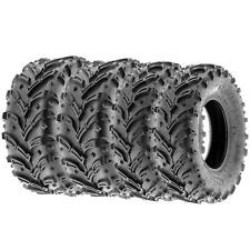 SunF 25x8-12 25x10-12 A/T Dirt & Mud Atv Utv Tires 6 Pr A024-1 [Bundle]