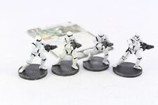 Star Wars Miniatures StormTrooper 4 Imperial Assault Group Core Set Pro Painted