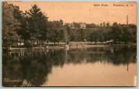 Postcard Franklin New Hampshire Odell Park c1910s Posted Lake Nature Outdoors