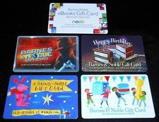 5 Collectible Gift cards Barnes and Noble Book Store Dif Lot No Value NEW <2010