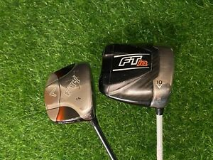**BUNDLE**CALLAWAY FT iQ DRIVER & CALLAWAY FTI 3W W/ CLEAN GRIPS & HEAD COVERS