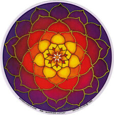 Sunrise Lotus Mandala - Spiritual Window Art Sticker / Decal