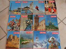 LOTTO DI 12 numeri della rivista LE VIE D ITALIA del 1957 annata completa sfusi