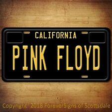 Pink Floyd Rock Band California Vanity Aluminum License Plate Black