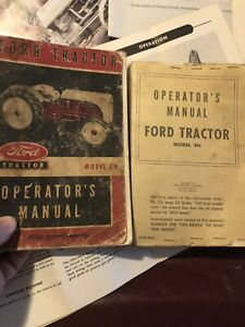 Lot. 1950's Ford Tractor Model 8N Operator's Manuals. Farm,Tractor,Plow,spreader
