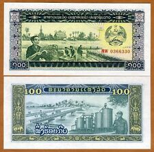 Lao / Laos, 100 Kip, ND (1979), P-30, UNC > Peasants, Soldier, Bridge