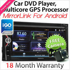 iGO Primo Mirror Link Double 2 DIN In Car Dash DVD GPS Player Stereo Radio USB Z