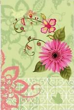 Summer Garden Party Pink Flowers Orchid Butterfly Sm Garden Flag