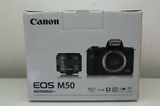 Canon EOS M50 EF-M 15-45mm f/3.5-6.3 IS STM Lens Kit Black 2680C011 - Brand New
